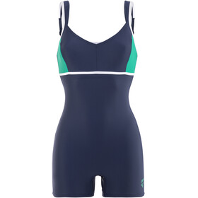 arena Venus Combi Bodysuit Women navy-persian green-white